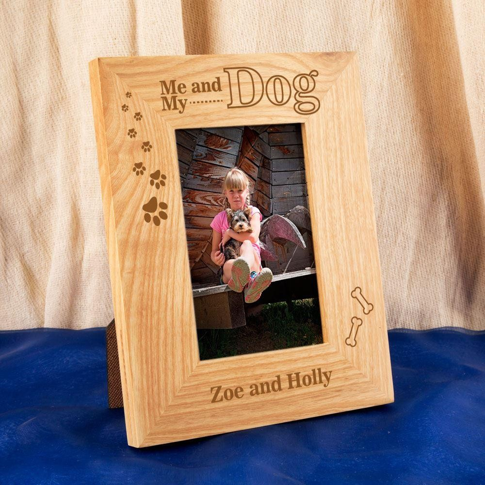 Bespoke Pet Lovers Me My Dog Oak Frame Forever Bespoke