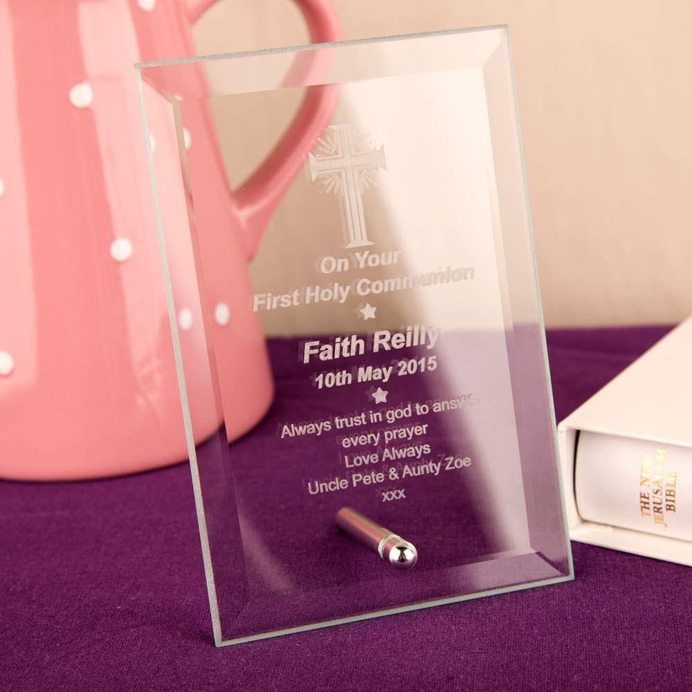 Communion Glass Plaque: Cross