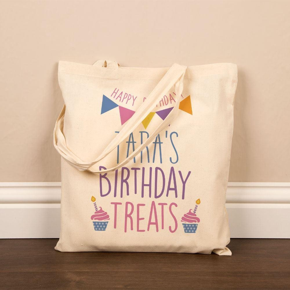 Birthday Treats Cotton Gift Bag For Women
