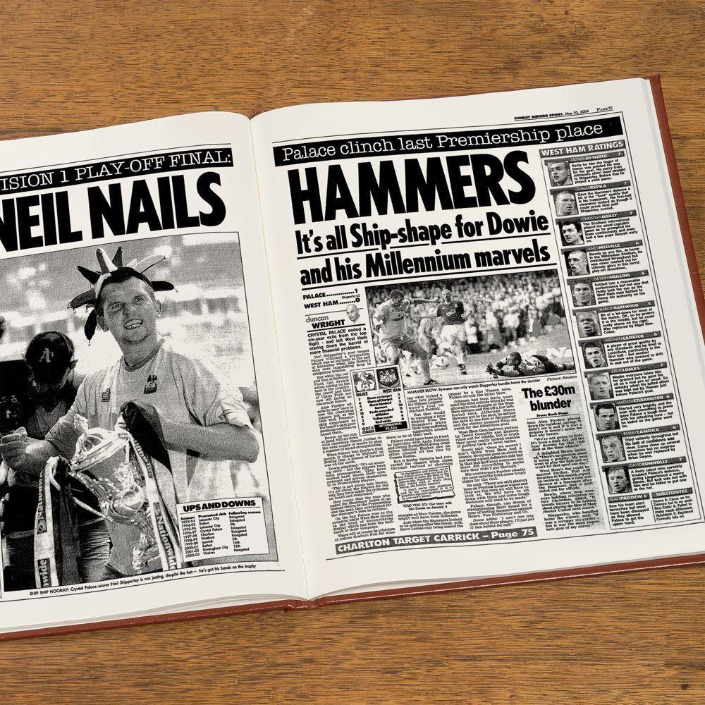Personalised Crystal Palace Football Club Headlines Book