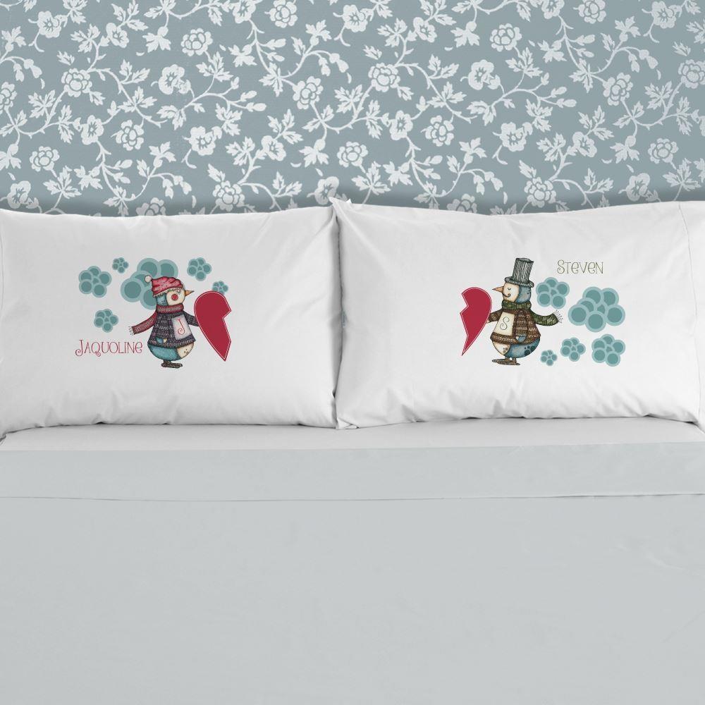 Mr And Mrs Penguin Pillowcase Set