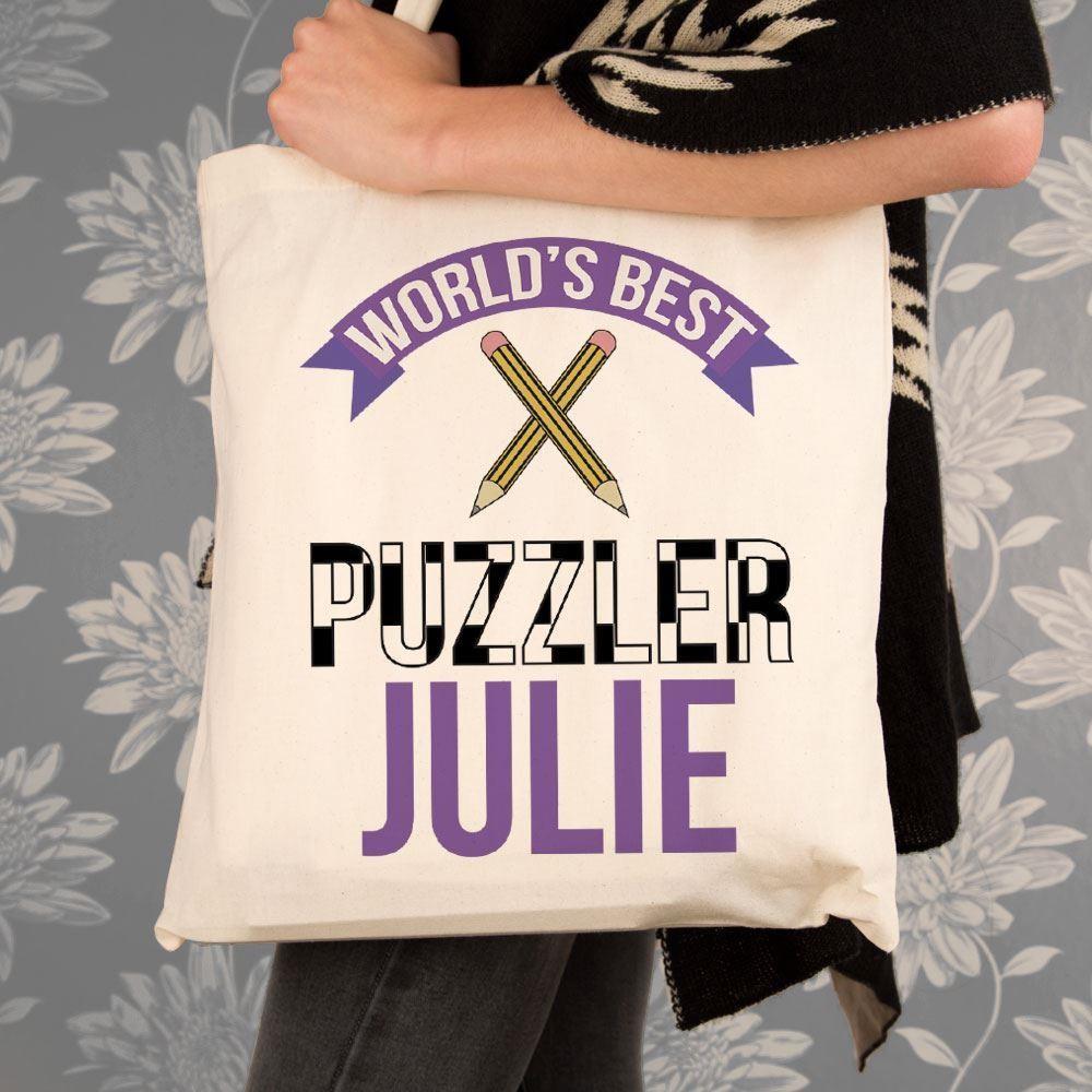 Personalised Best Puzzler Shoulder Bag