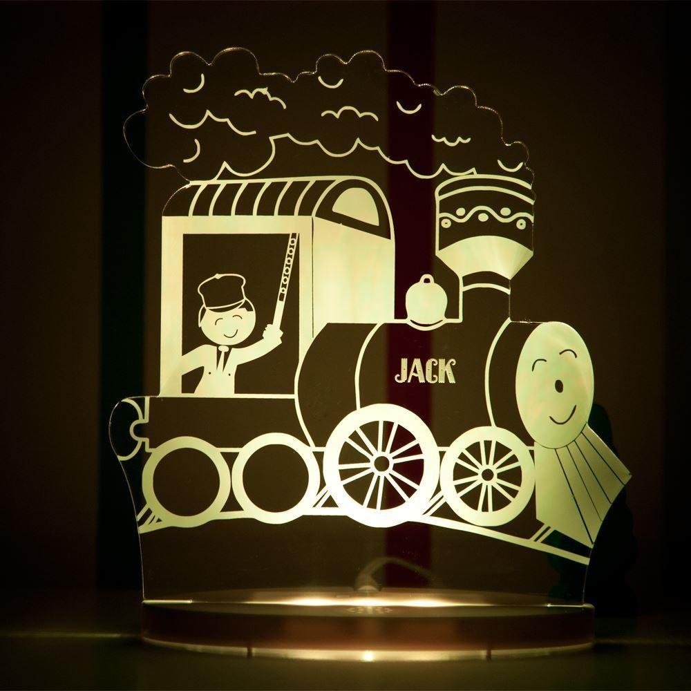 Personalised Train LED Night Light