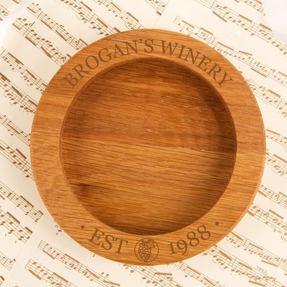 Personalised Winery Wooden Wine Bottle Coaster
