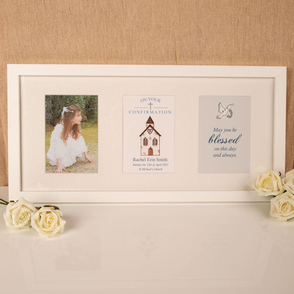 Personalised Confirmation Church 3 Aperture Frame