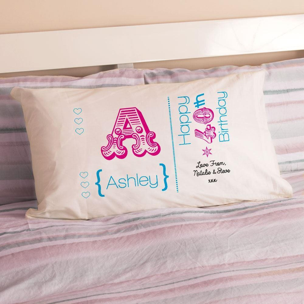 Personalised 40th Birthday Letter Pillowcase For Her