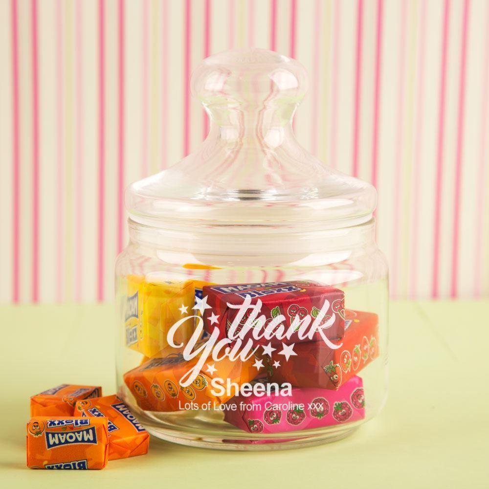 Bespoke Thank You Glass Sweet Jar