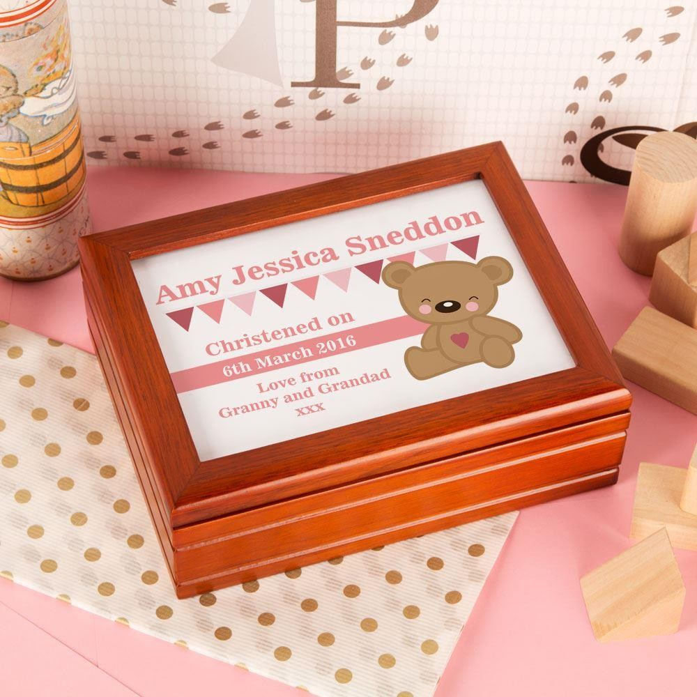 Personalised Teddy Bear Musical Jewellery Box