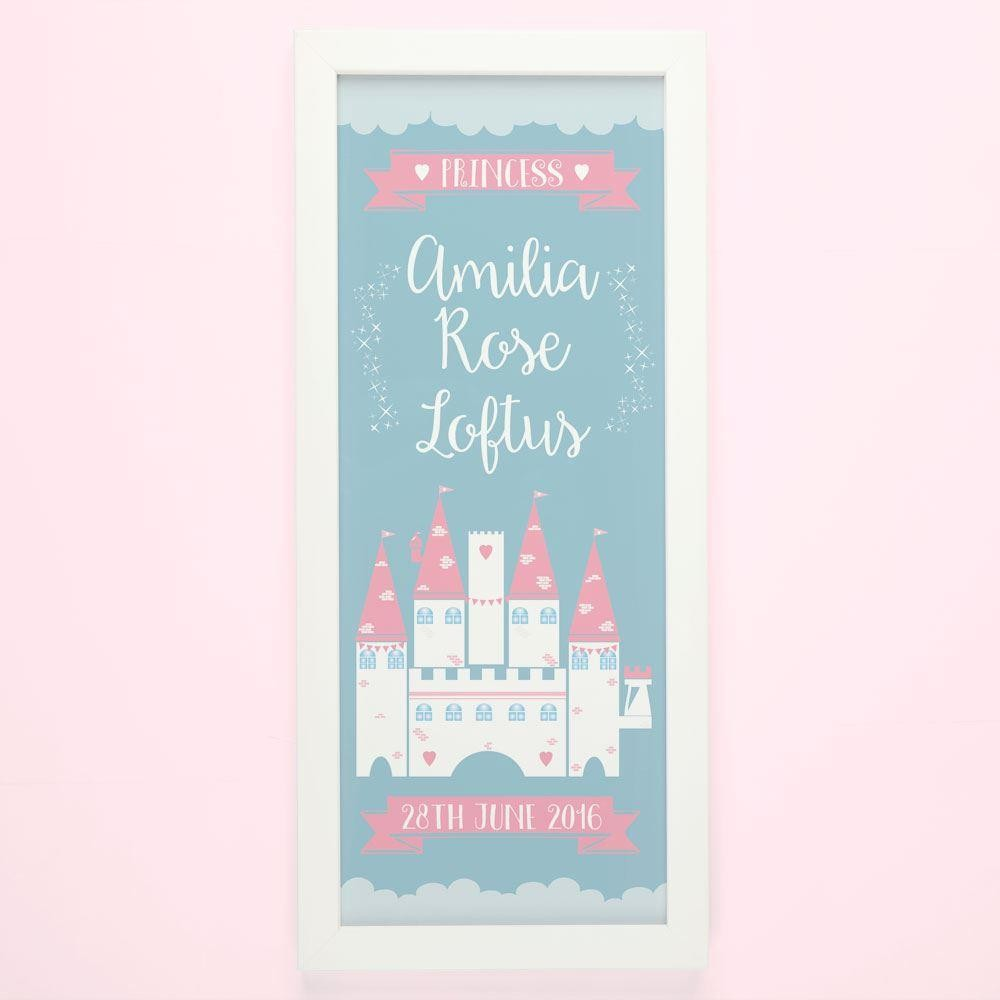 Personalised Princess Castle Framed Print