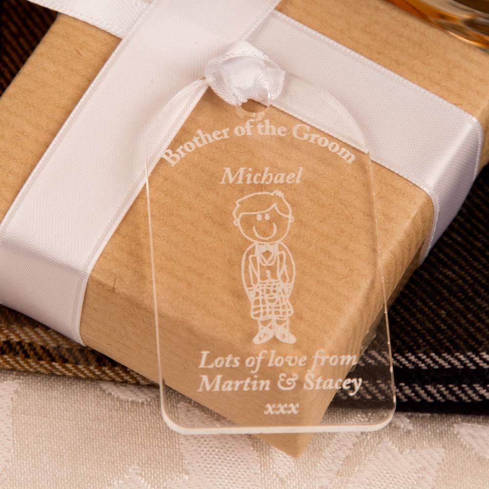 Brother Of Groom Gift Tag
