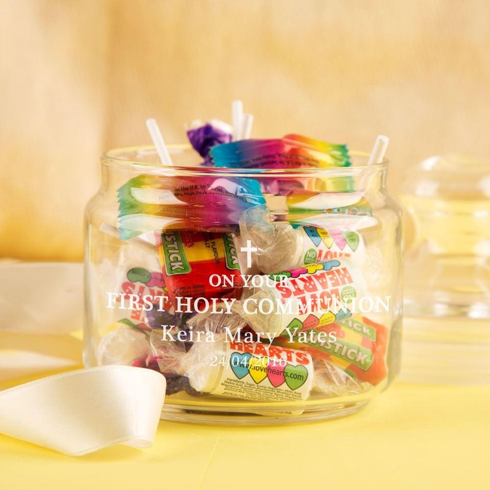 First Holy Communion Glass Sweet Jar