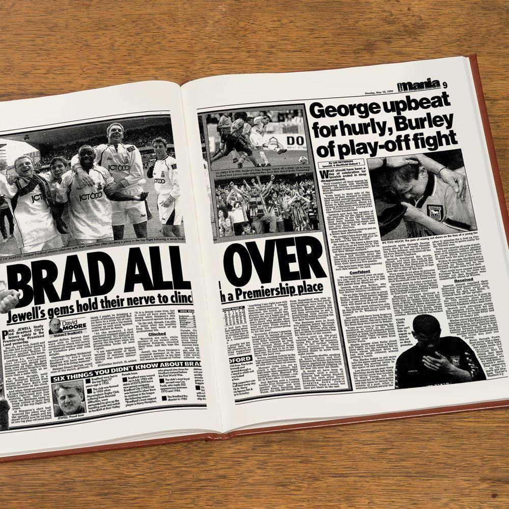 Customised Bradford City Football Club Headline Book