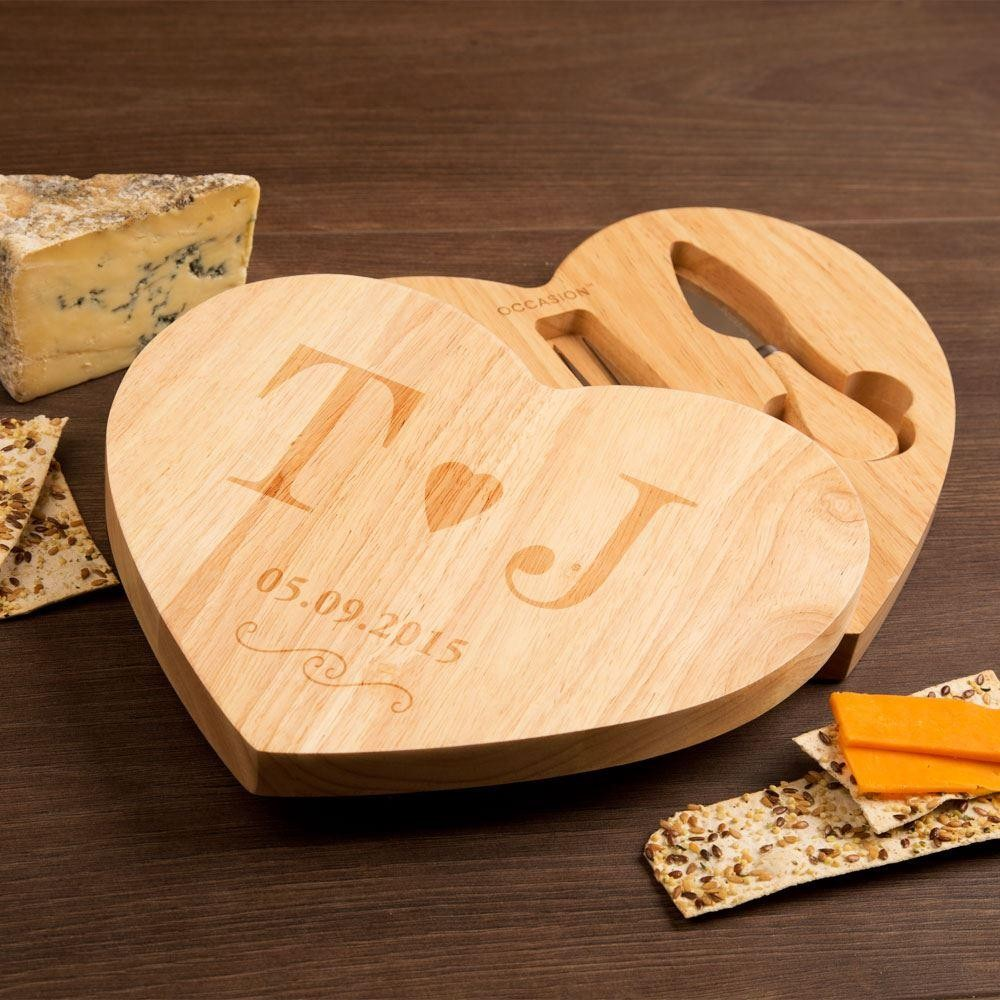 Couples Initial Cheeseboard with Date