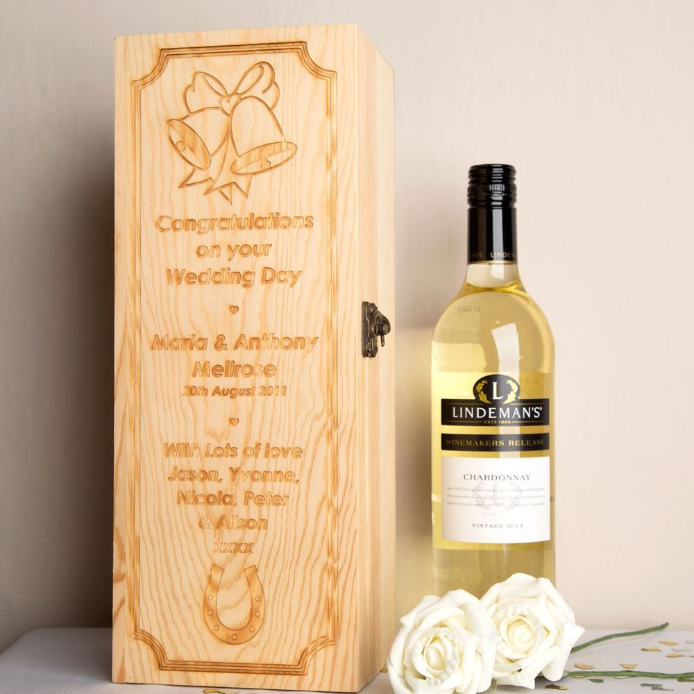 Wooden Wine Box Wedding Gift : Engraved Wedding Wine Box Forever Bespoke