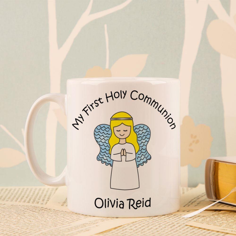 Personalised Communion Angel Mug