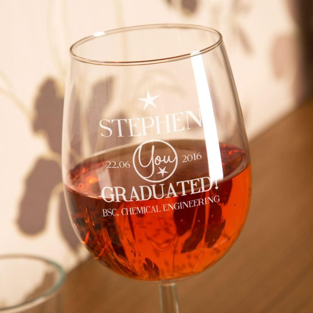 You Graduated Personalised Wine Glass