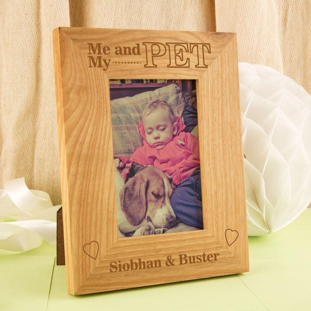 Customised Me and my Pet Oak Frame