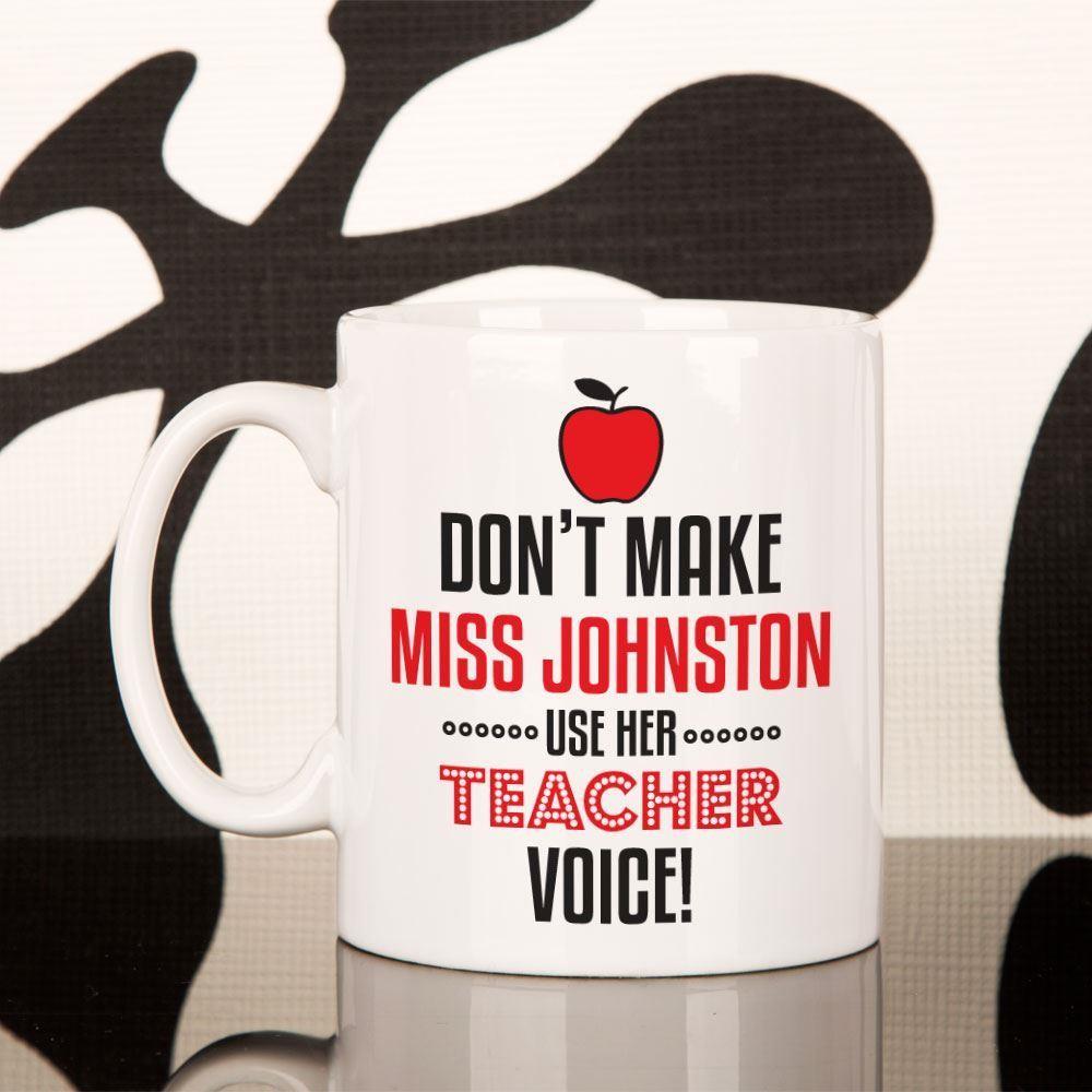 Personalised Teacher Voice Novelty Mug