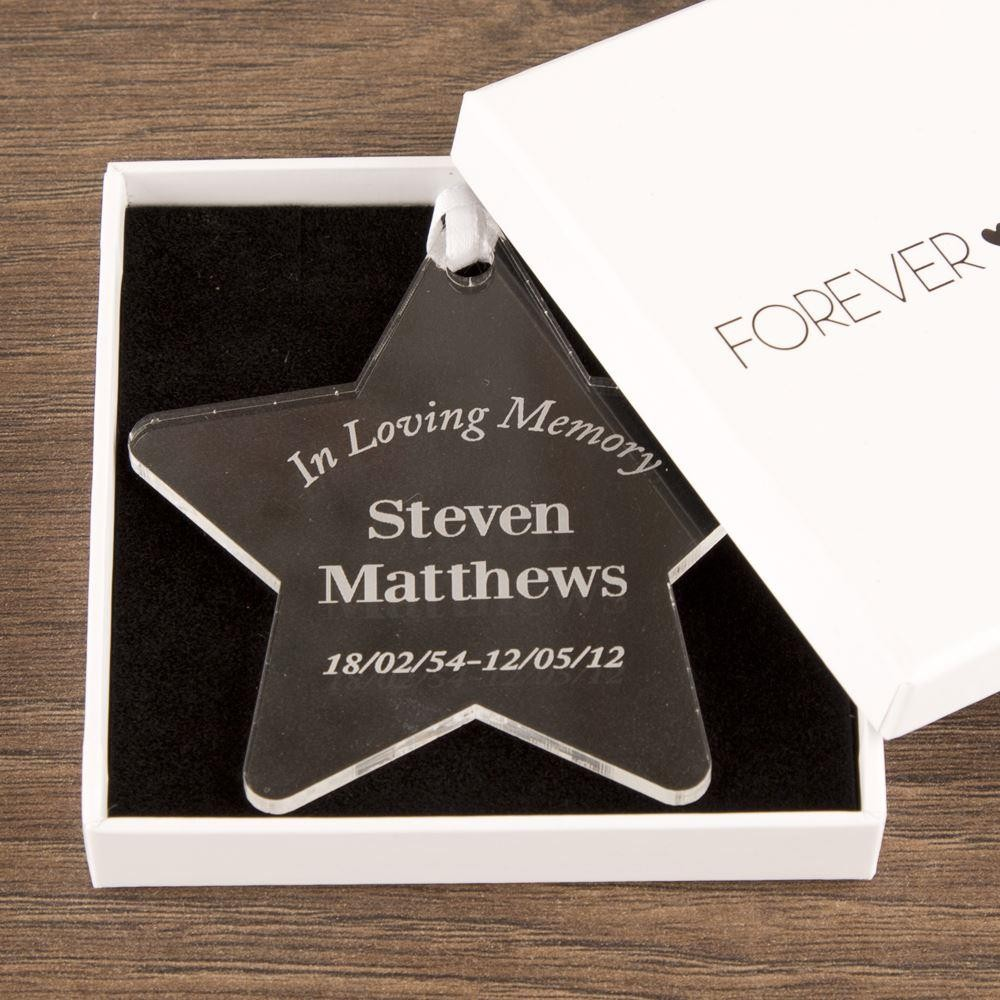 Personalised In Loving Memory Star