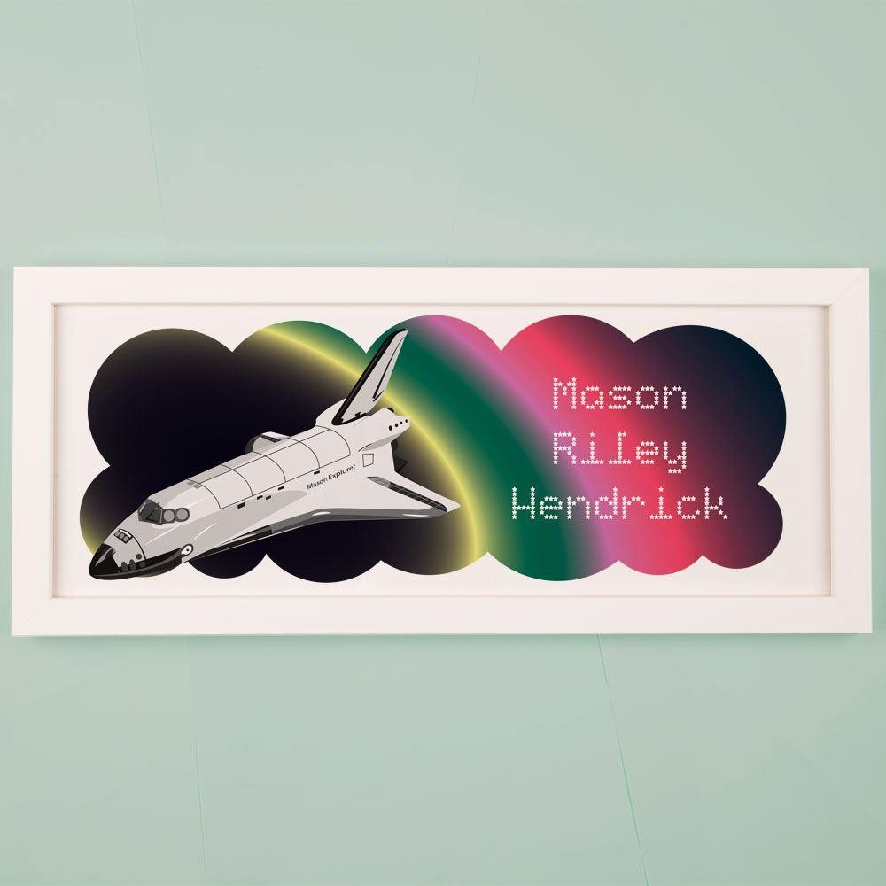 Personalised Space Shuttle Framed Print