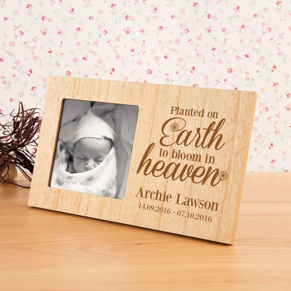 Planted on Earth Personalised Memorial Frame