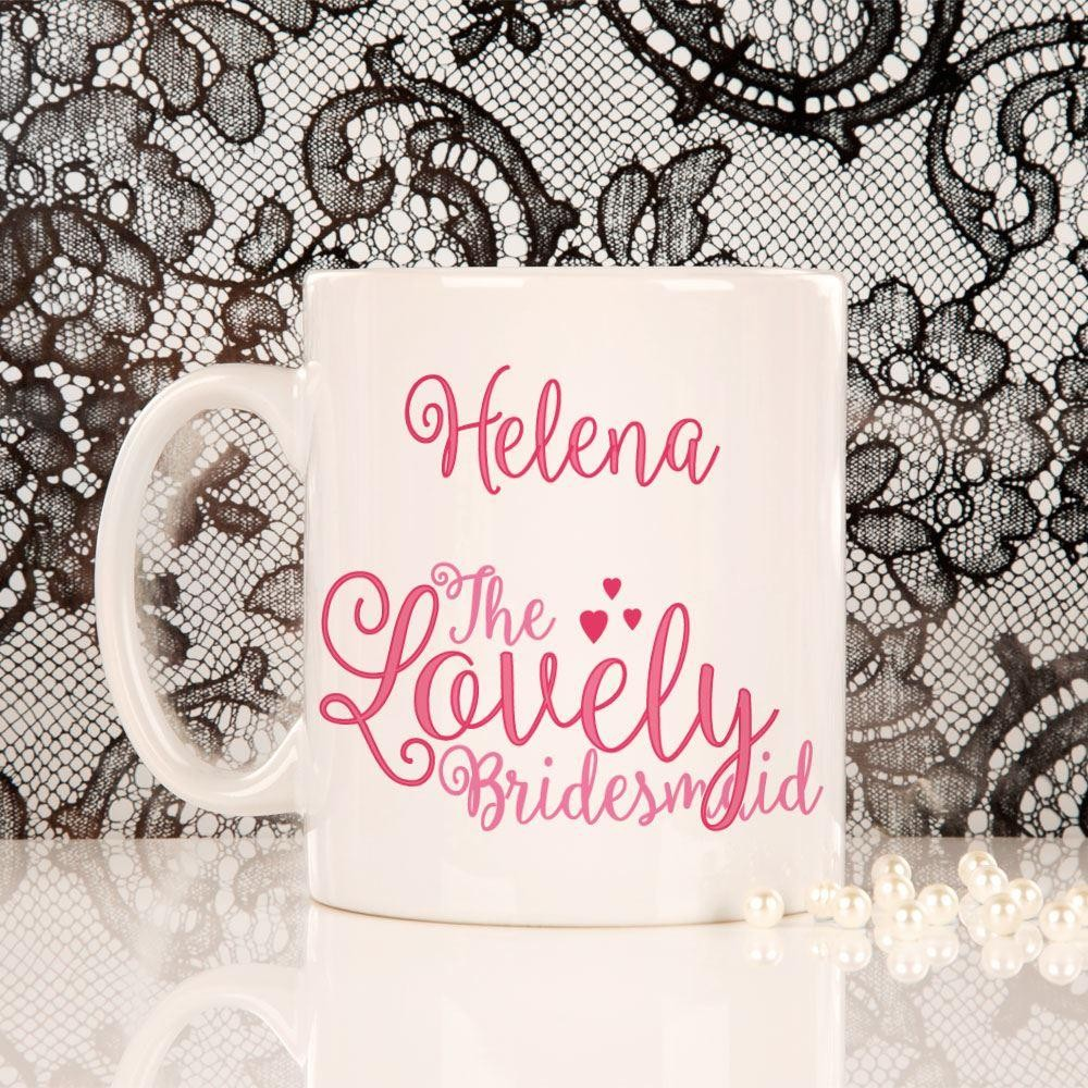 Personalised Lovely Bridesmaid Mug