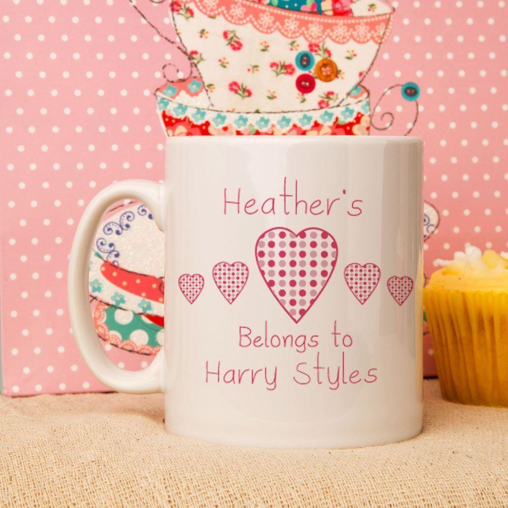 Personalised My Heart Belongs To Mug