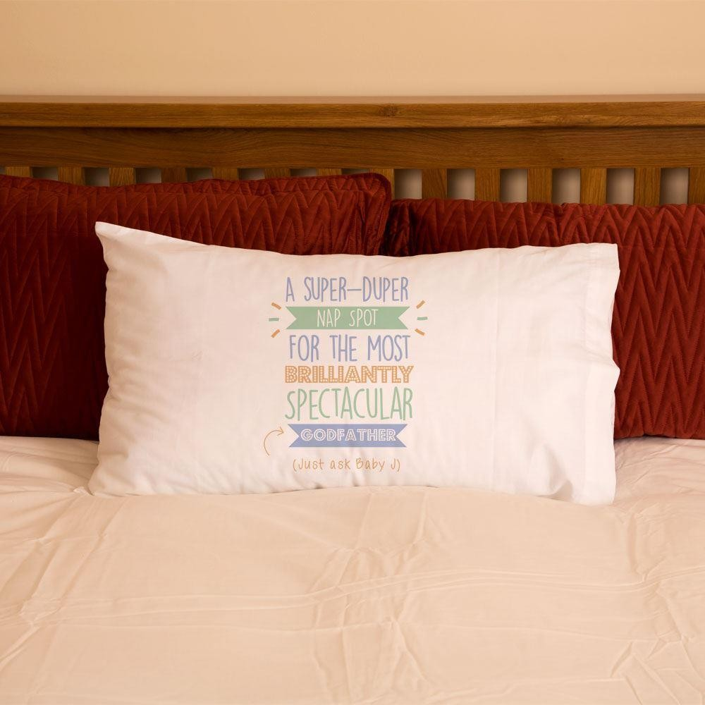 Personalised Best Godfather...Just Ask Pillowcase