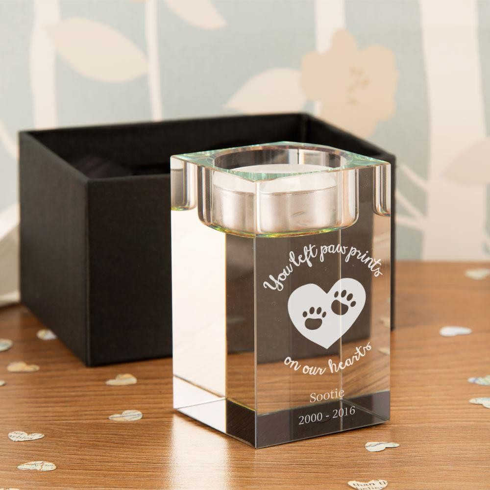Customised Pet Memorial Tealight Holder