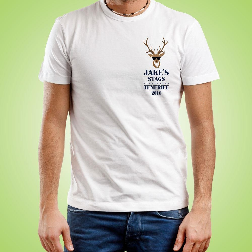 Classic Stag Emblem Personalised T-Shirt