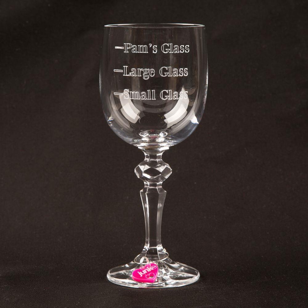 Personalised Measure Crystal Wine Glass
