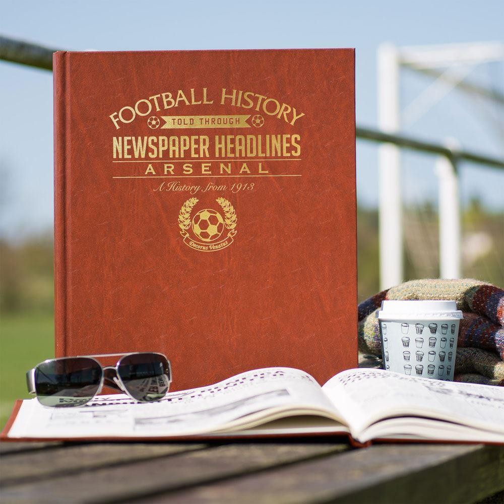 Personalised Arsenal Football Club Headline Book