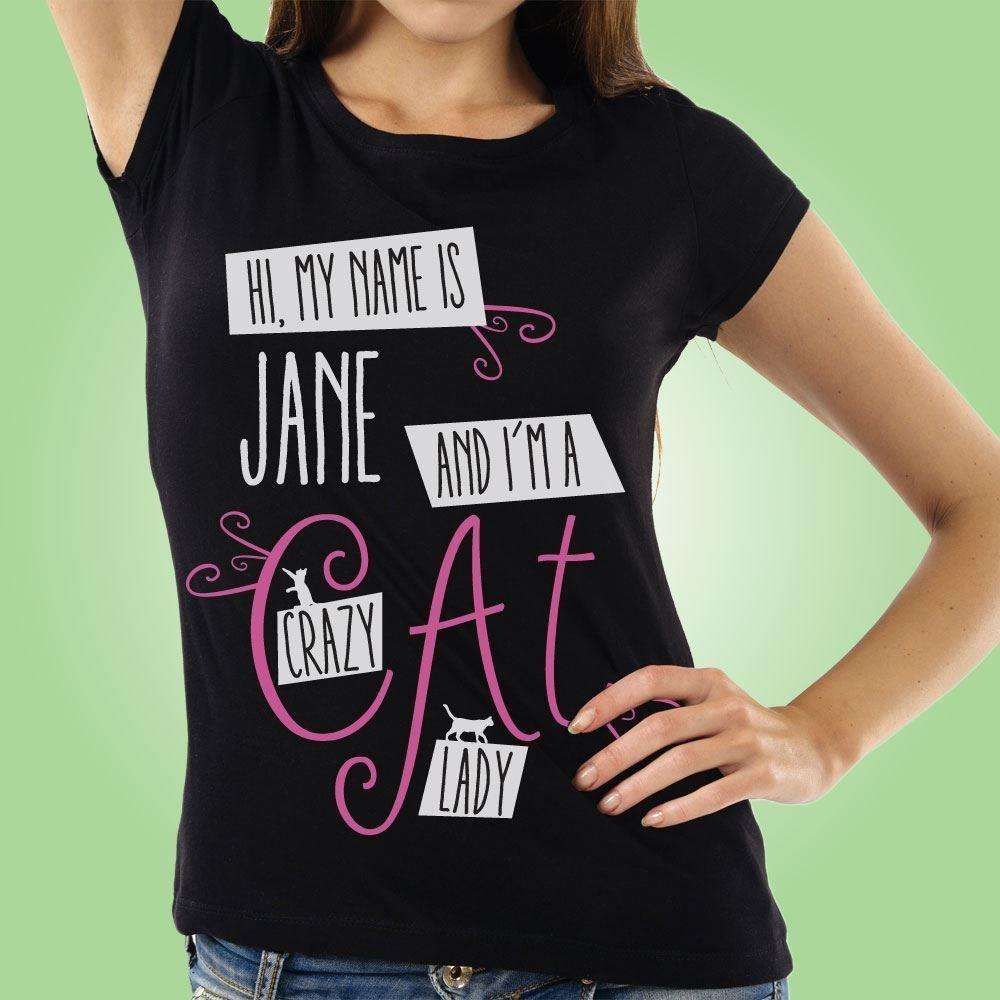 Crazy Cat Lady Custom Womens T-Shirt