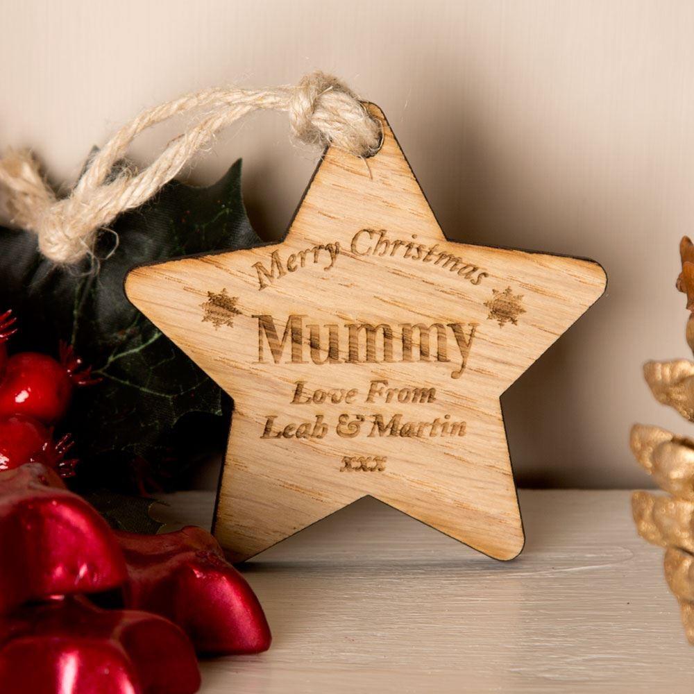 Bespoke Wooden Christmas Star Mum