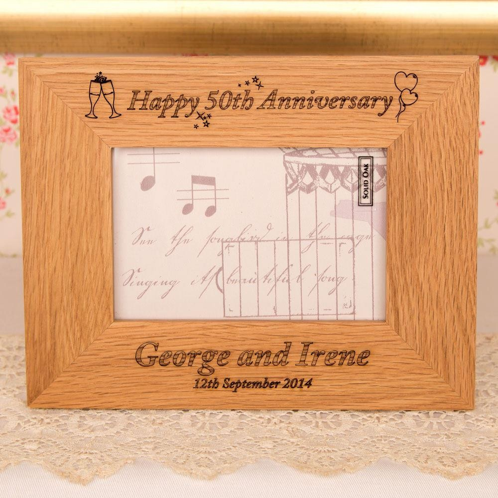 Personalised Oak Anniversary Frame