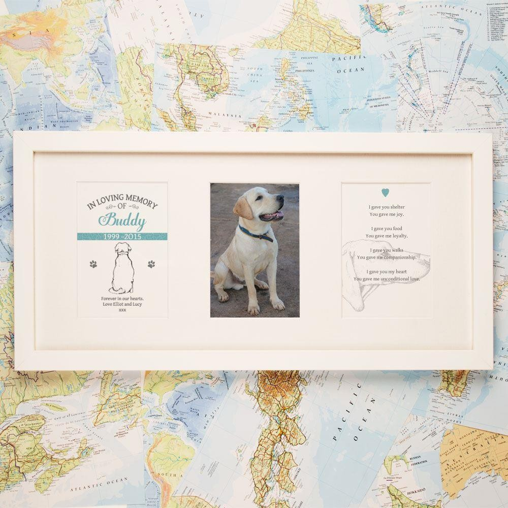 Personalised Dog Memorial Frame