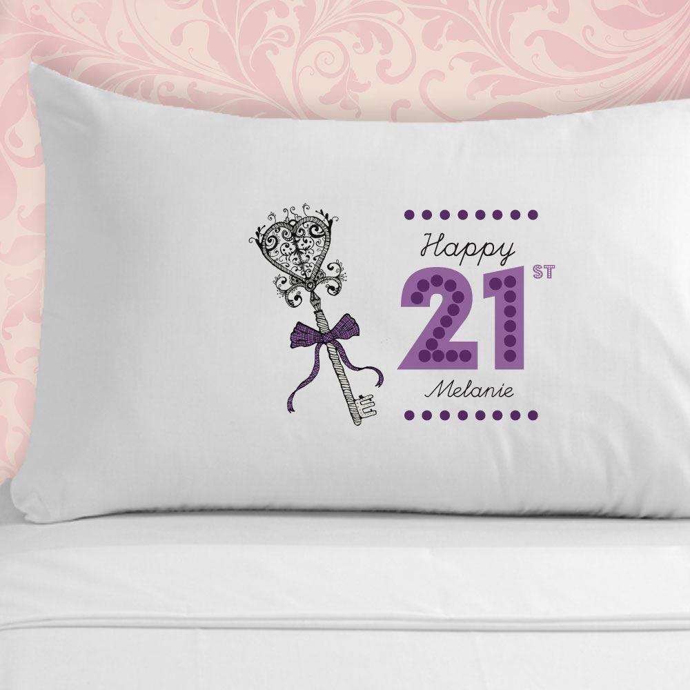 21st Birthday Pillowcase