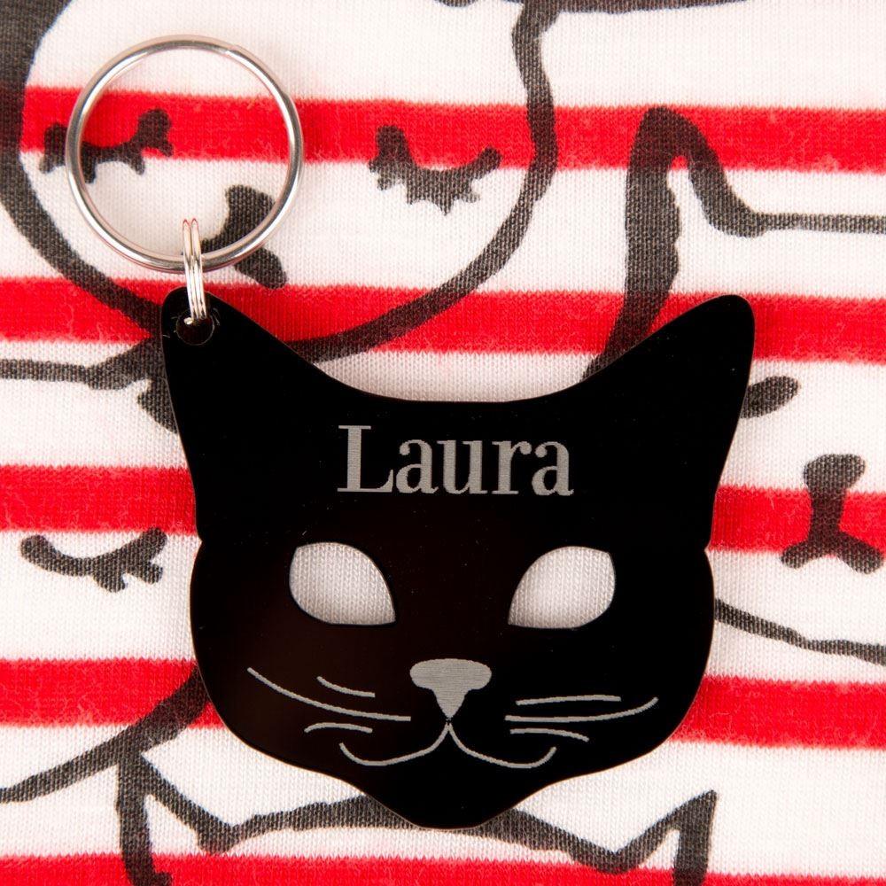 Personalised Junko Style Acrylic Cat Keyring