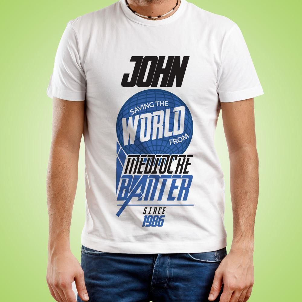 Mens Personalised Mediocre Banter Tee