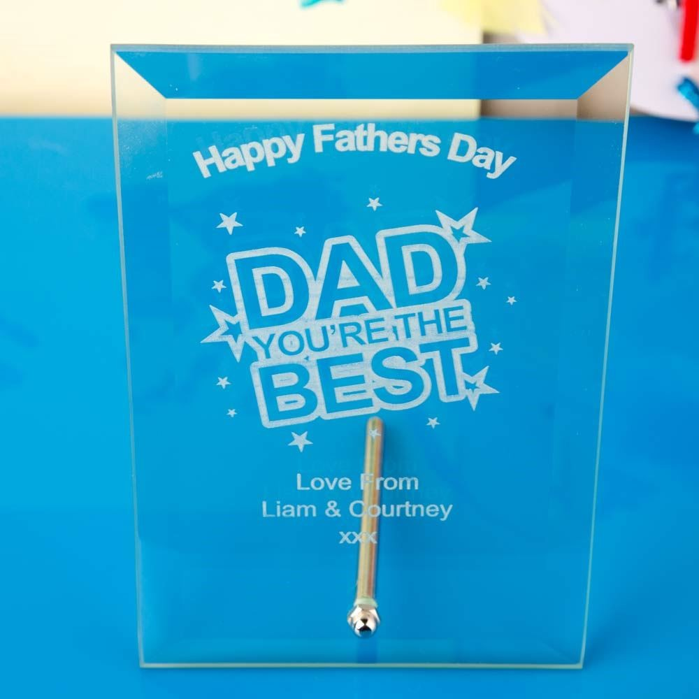 Fathers Day Glass Plaque