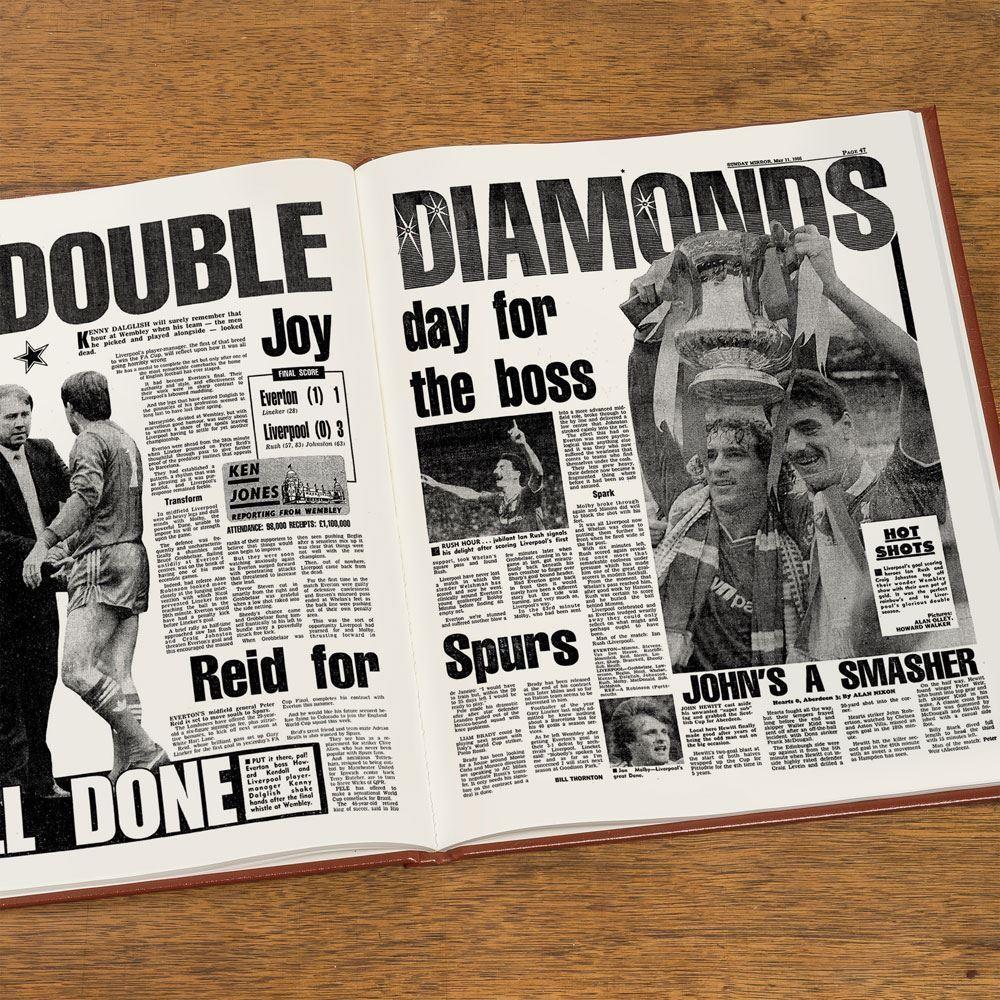 Personalised Liverpool Football Club Headline Book