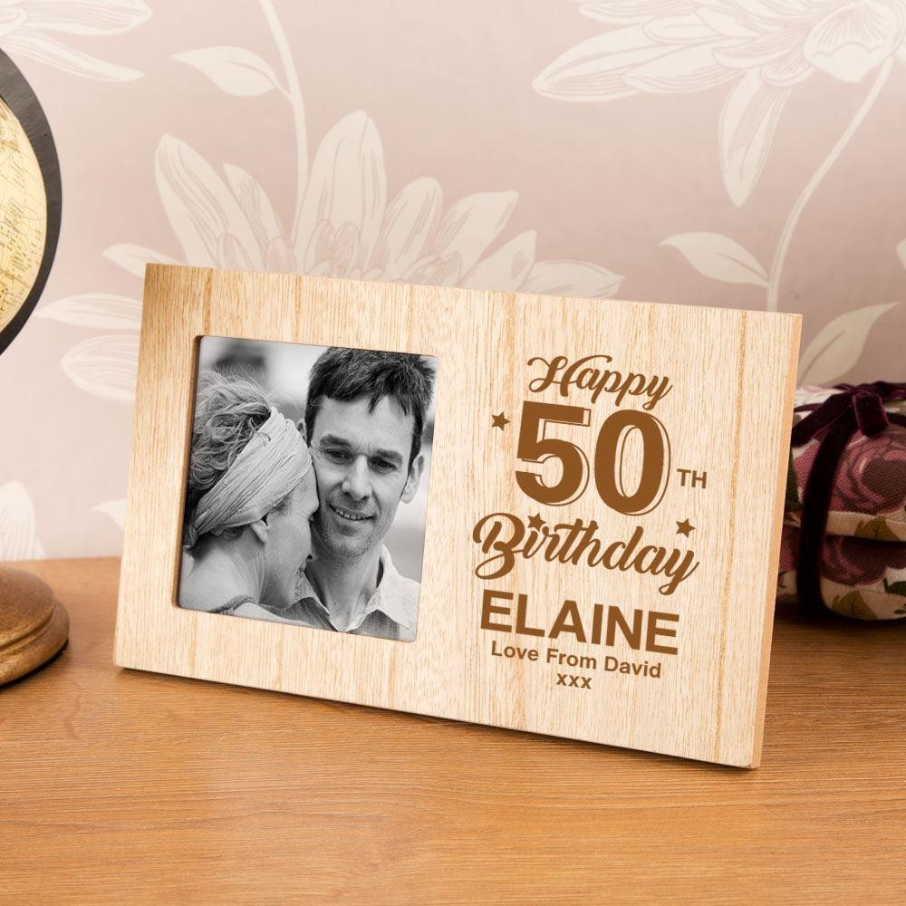 50th Birthday Customised Photo Frame