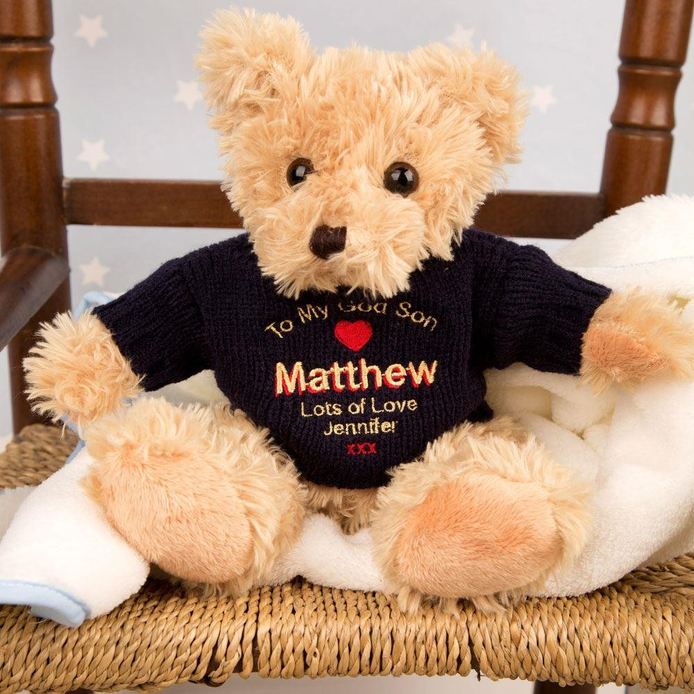 Personalised God Son Teddy Bear