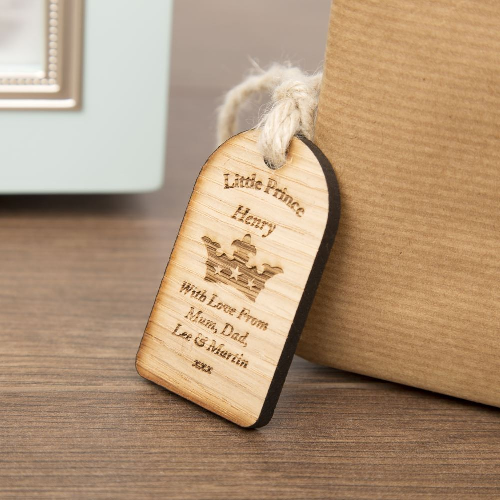 Prince Wooden Gift Tag