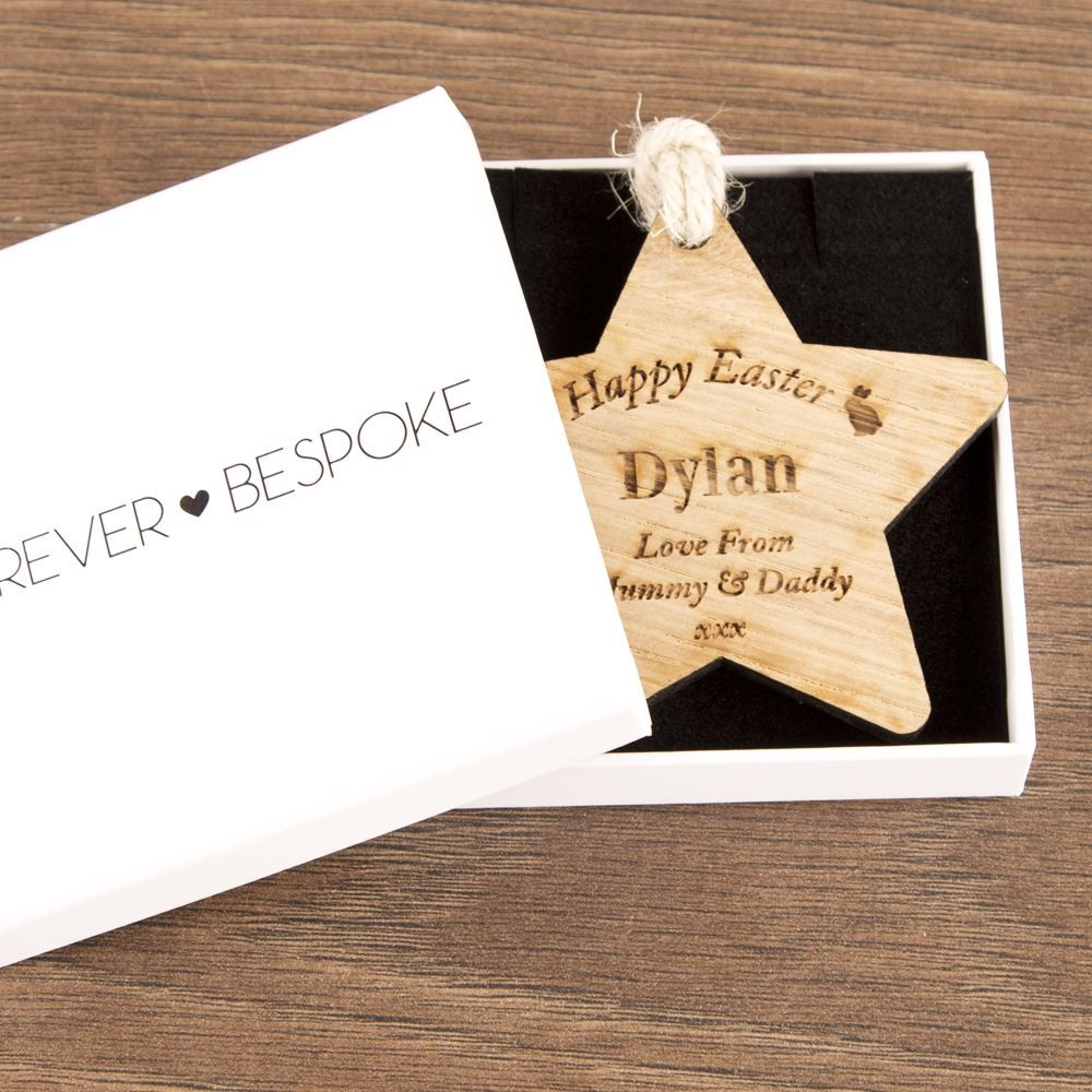 Personalised Easter Wooden Star