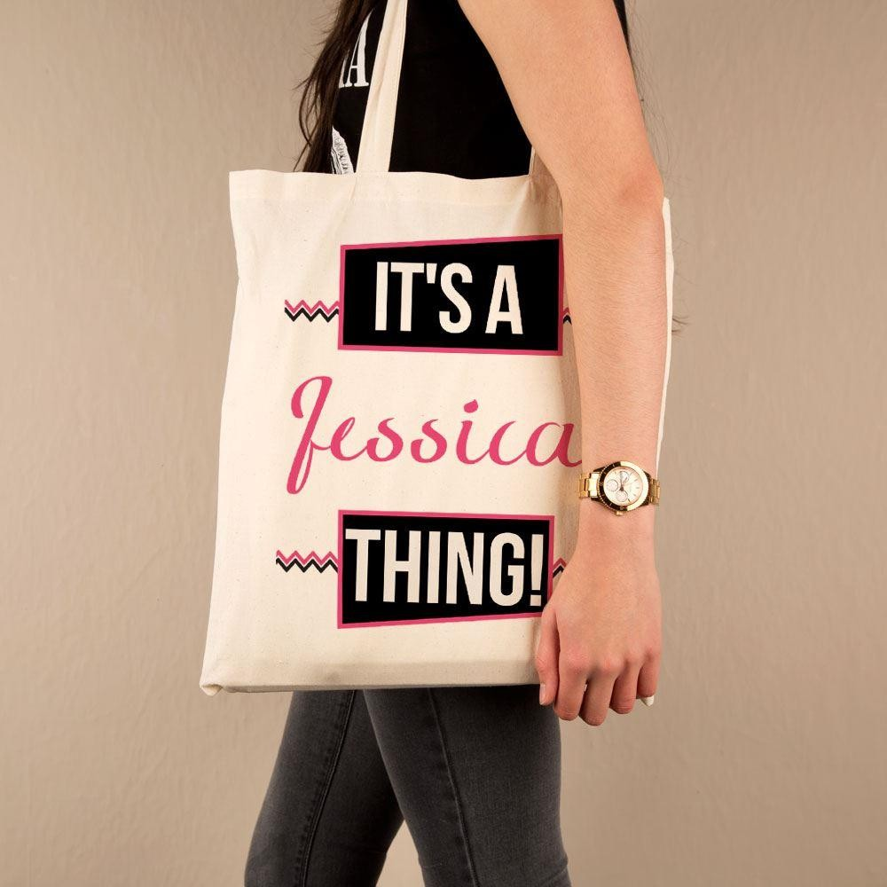 Its a Name Thing Custom Shopper Bag