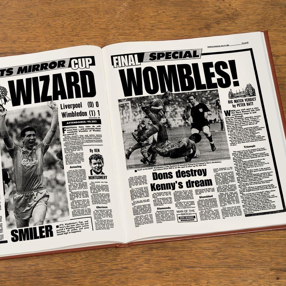 Personalised Wimbledon Football Club Headline Book