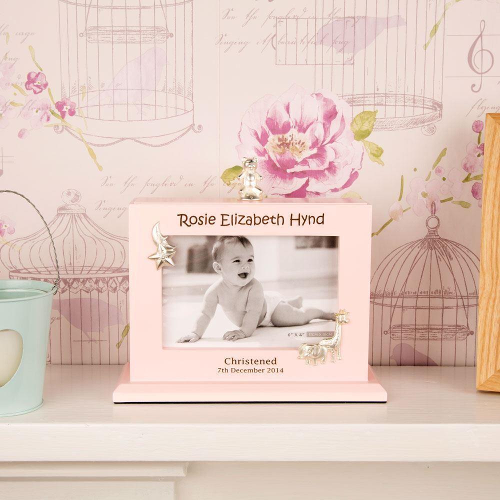 Laser Engraved Baby Girl Flip Album