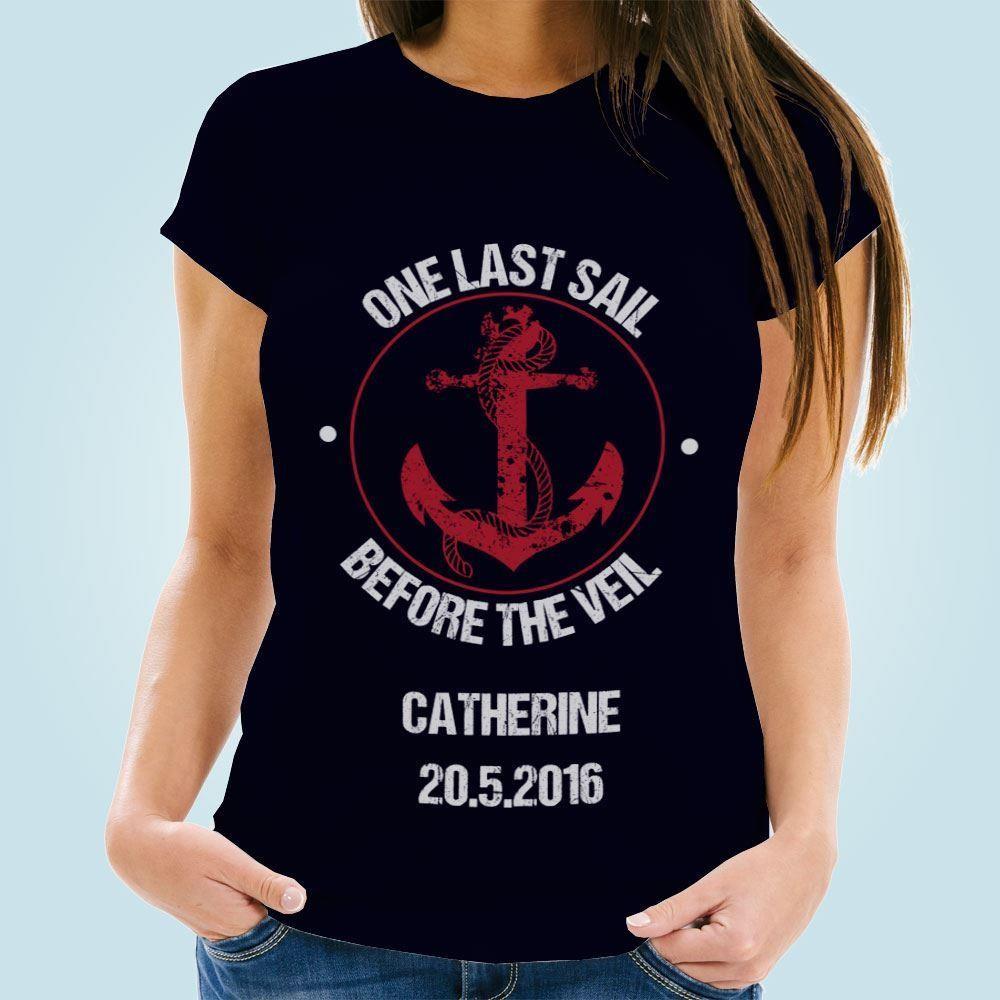Personalised Navy Nautical Hen T-Shirt