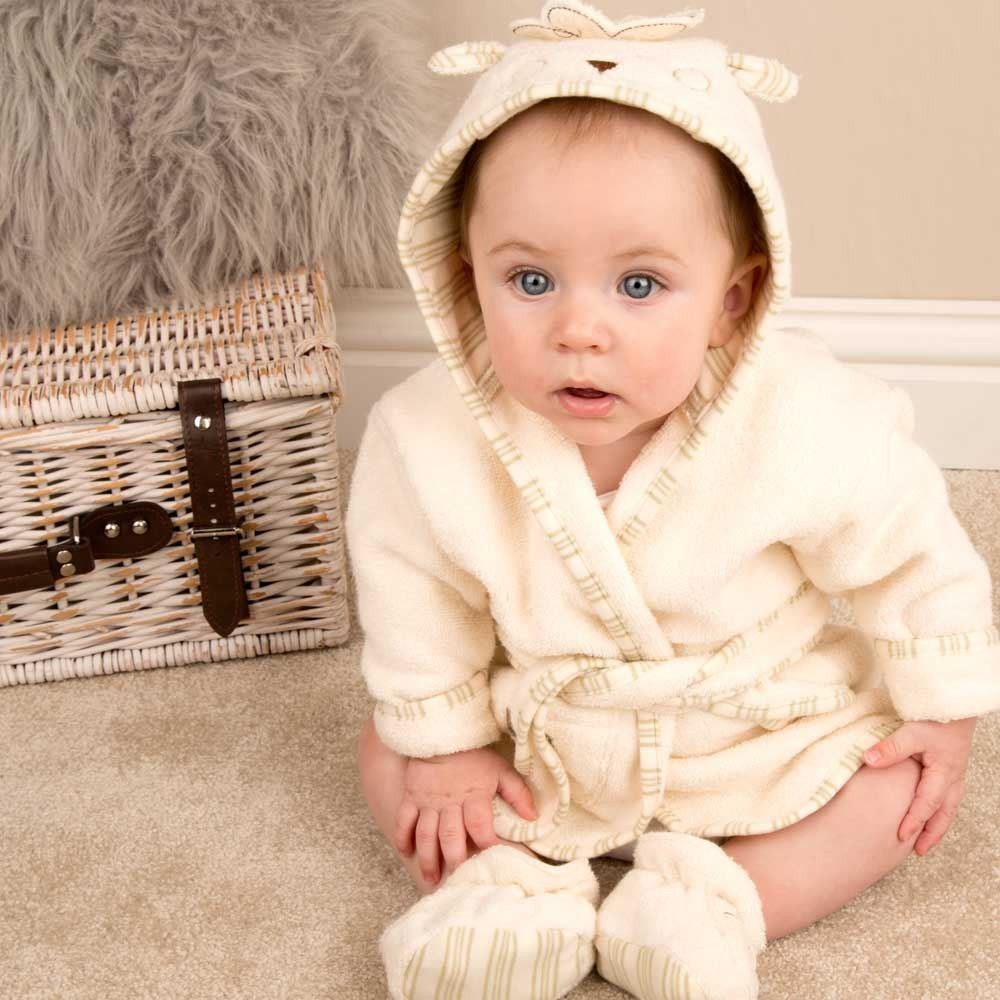 Sheep Bathrobe & Slippers Set